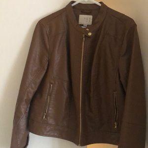 Brown moto jacket